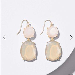 Loft double stone drop earring